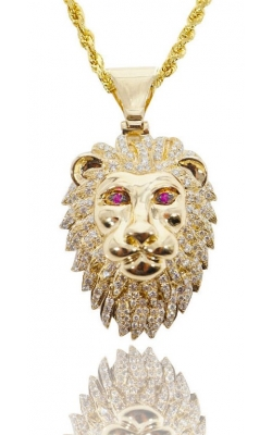 DIAMOND LION PENDANT (RUBY EYES) product image