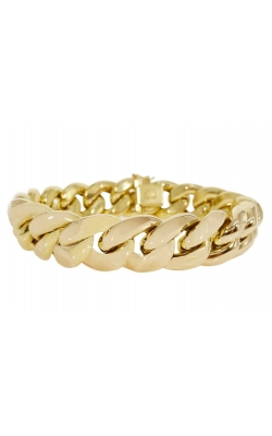 GOLD CUBAN LINK BRACELET product image