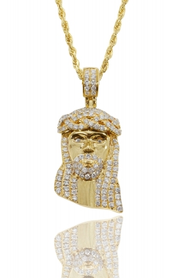ICED JESUS PIECE WITH DIAMOND EYE product image