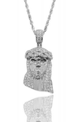 ICED JESUS PIECE WITH DIAMOND EYE product image