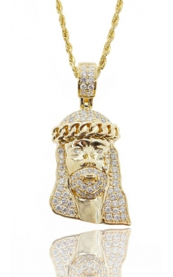 FULLY ICED JESUS HEAD  product image