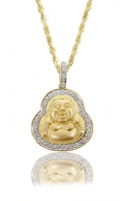 DIAMOND LAUGHING BUDDHA PEND product image