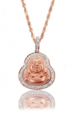 DIAMOND LAUGHING BUDDHA PEND product image