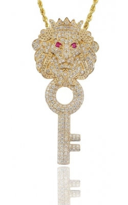KEY LION PENDANT (FULLY ICED) product image