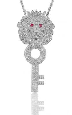 KEY LION PENDANT (FULLY ICED) product image