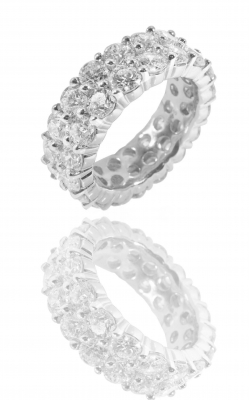 11.11CTTW DIAMOND 2-ROW ETERNITY RING product image