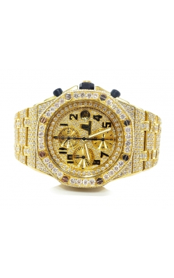 AUDEMARS PIGUET ROYAL OAK YELLOW GOLD 42MM FULL DIAMONDS AND DIAMOND DIAL WATCH product image