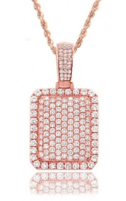 BUBBLE RECTANGLE PENDANT(FULLY ICED OUT) product image