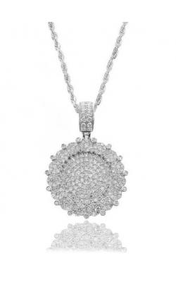 CUSTOM CIRCLE PENDANT (FULLY DIAMOND) product image
