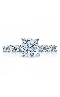2.70CT GABRIEL ROUND EXCELLENT-CUT DIAMOND ENGAGEMENT RING, 14K WHITE GOLD product image