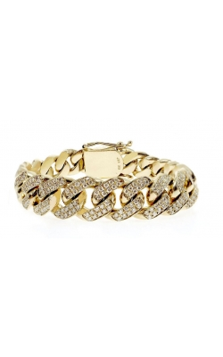 DIAMOND CUBAN LINK BRACELET (16.50MM) product image