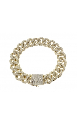 DIAMOND CUBAN LINK BRACELET (14.70MM) product image