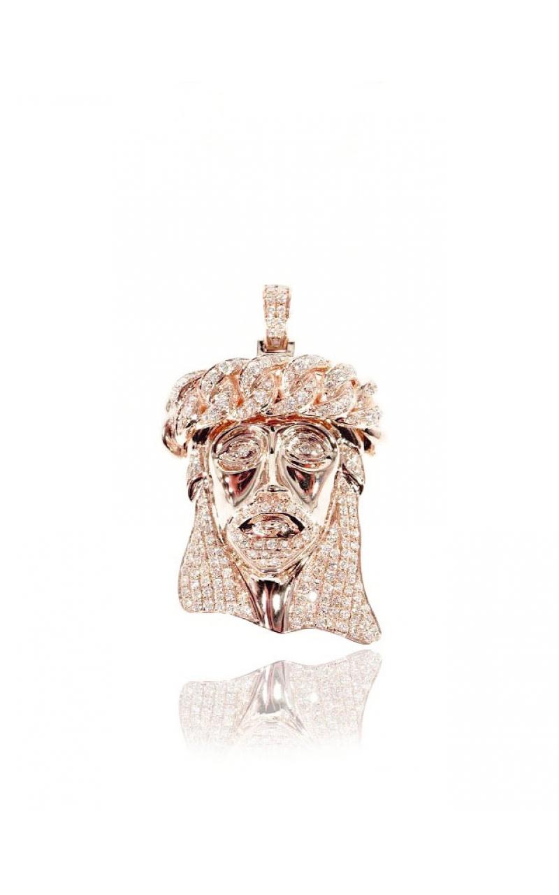 Price: $2,000.00 DIAMOND JESUS HEAD (SOLID BACK) ...