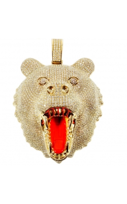 CUSTOM BEAR HEAD PENDANT (FULLY ICED) product image