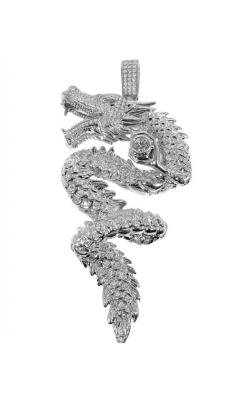 DIAMOND DRAGON PENDANT (3D FULLY ICED) product image