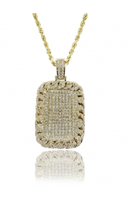 DIAMOND DOG TAG PENDANT (CUBAN BORDERS) product image