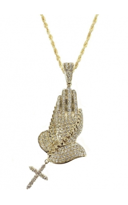 PRAYING HAND DIAMOND PENDANT product image