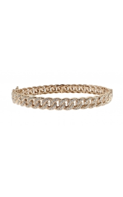 DIAMOND CUBAN BANGLE product image