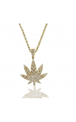 DIAMOND WEED LEAF PENDANT product image