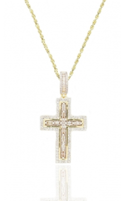 DIAMOND BAGUETTES CROSS PENDANT product image
