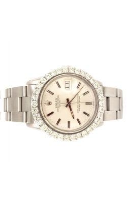 STAINLESS STEEL ROLEX 36MM CUSTOM BEZEL 2.00CTW product image