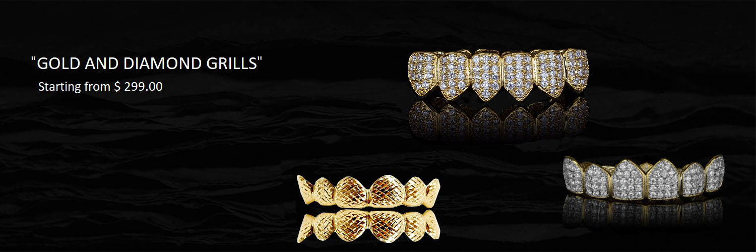 DIAMOND AND GOLD GRILLS