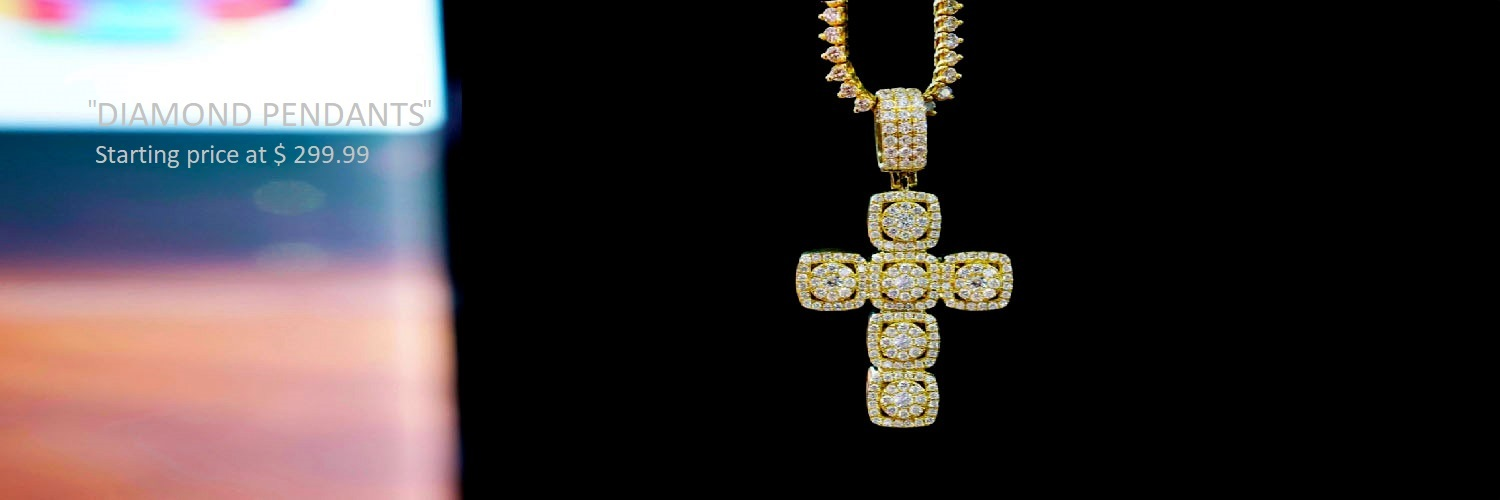 FULLY ICED CROSS PENDANTS